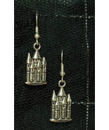 Cute Metal Gothic Castle Tower Earrings - $5.40