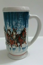 2007 Budweiser Winter's Calm Stein Clydesdale Horses In Snow Collectible... - $9.89