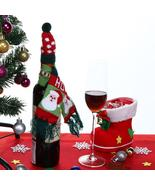 (01)Hat Scarf Wine Hold Bottle Cover Decoration Home Party Christmas Win... - $14.00