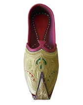 Men Shoes Indian Handmade Mojari Leather Jutties Espadrilles Flat US 9.5  - $39.99