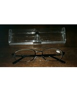 Gunmetal Oval (Round) Metal Framed ~ Spring Hinged ~ +2.50 Reading Glass... - $16.50