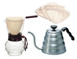 Hario V60 - Hario Kettle, Drip Pot Woodneck & 3 Extra Filters (4 Filters... - $87.11