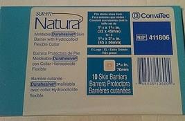 ConvaTec Sur-Fit Natura XL Moldable Durahesive Skin Barrier 411806 Box o... - $34.60