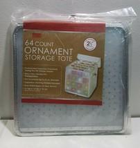 Simplify Christmas Holiday Ornament balls Organizer Storage Box Silver 6... - $17.73