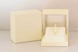 MIKIMOTO Authentic K18YG 6.8mm Akoya Pearl & Diamond Necklace Used Japan - $734.24