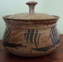 Vintage 2 Piece Native American Speckled Stoneware 2 Qt Casserole ~ ART ... - $73.99