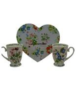NIB! McIntosh Fine Bone China - Garden Meadow Mug Pair (Set) - $29.10
