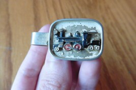 SWANK tie clip train locomotive engine gold tone Vintage - $4.84
