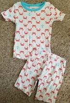 CARTER'S Crab and Anchor Print Shortie Cotton Pajamas Boys Size 3T - $3.66