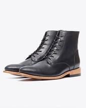 Handmade Men black Ankle boots, Men black Lace up style ankle boots, Men boots - $179.99