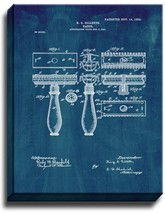 Gillette Razor Patent Print Midnight Blue on Canvas - $39.95+