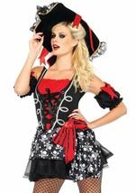Women's Buccaneer Babe Pirate Skull Cross Bones Skeleton Halloween Costu... - $24.95