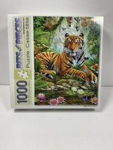 Puzzle Made By Bits And Pieces Tiger On A Rock 20 X 27 Adrian Chesterman - $28.69