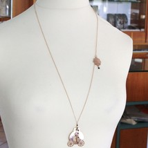 925 STERLING SILVER NECKLACE LAMINATED GOLD PINK LE FAVOLE WITH RAILWAY CARRIAGE image 2