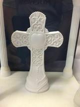 New WILTON Cake Topper + Engravable Display CROSS Baptism Communion Wedding - $21.29