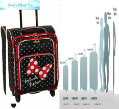 American Tourister Disney Softside Luggage with Spinner Minnie Mouse Red... - $96.46