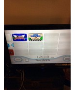 BLACK WII CONSOLE WITH DOWNLOADED SUPER MARIO 3 SONIC AV CORD POWER SUPP... - $74.95