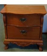 Lexington Victorian Sampler Wood Oak Finish Commode Side Table - VGC - B... - $544.49