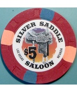 $5 Casino Chip. Silver Saddle, Las Vegas, NV. W17. - $6.50