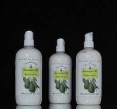 Crabtree Evelyn Body Lotion Avocado 500 ml 16.9 oz Drawn from Nature Lot... - $65.22