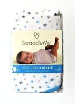 Swaddle Me Legs Free Kicksie Swaddling Blanket Summer Infant Blue Stars New - $14.50