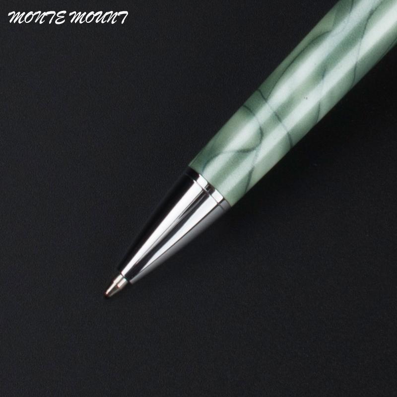 school diamond pen luxury Ball-point Pen Stainless Steel Rod Rotating Metal Ball