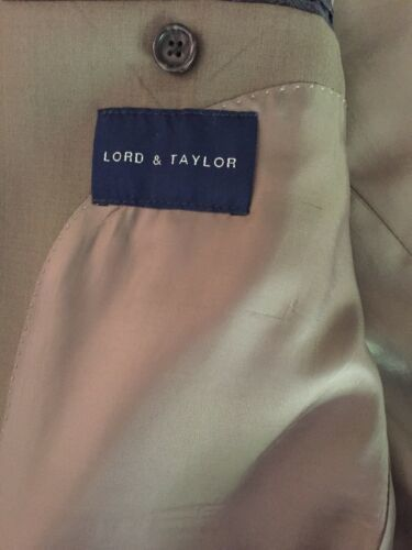 Ralph Lauren Mens 100% Wool Suit 44 Lord & Taylor Olive image 6