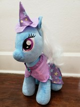 Build A Bear My Little Pony Trixie Plush Blue Unicorn w/ Cape & Hat - $30.47