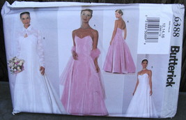 Butterick 6388 Spagetti Strap Wedding Dress Pattern Size 12-14-16* - $29.00