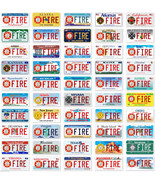Lot of 50 US Fire Department Aluminum Novelty Car License Plate - $345.51