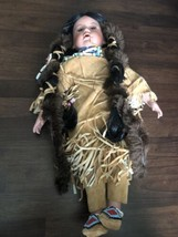 """17""""Timeless Native American Indian Porcelain Doll Ltd Collection 1074/2500 - $59.39"""