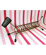Charming Mid Century Long Dog Spring Coiled Wire Toast Rack or Cracker H... - $28.00