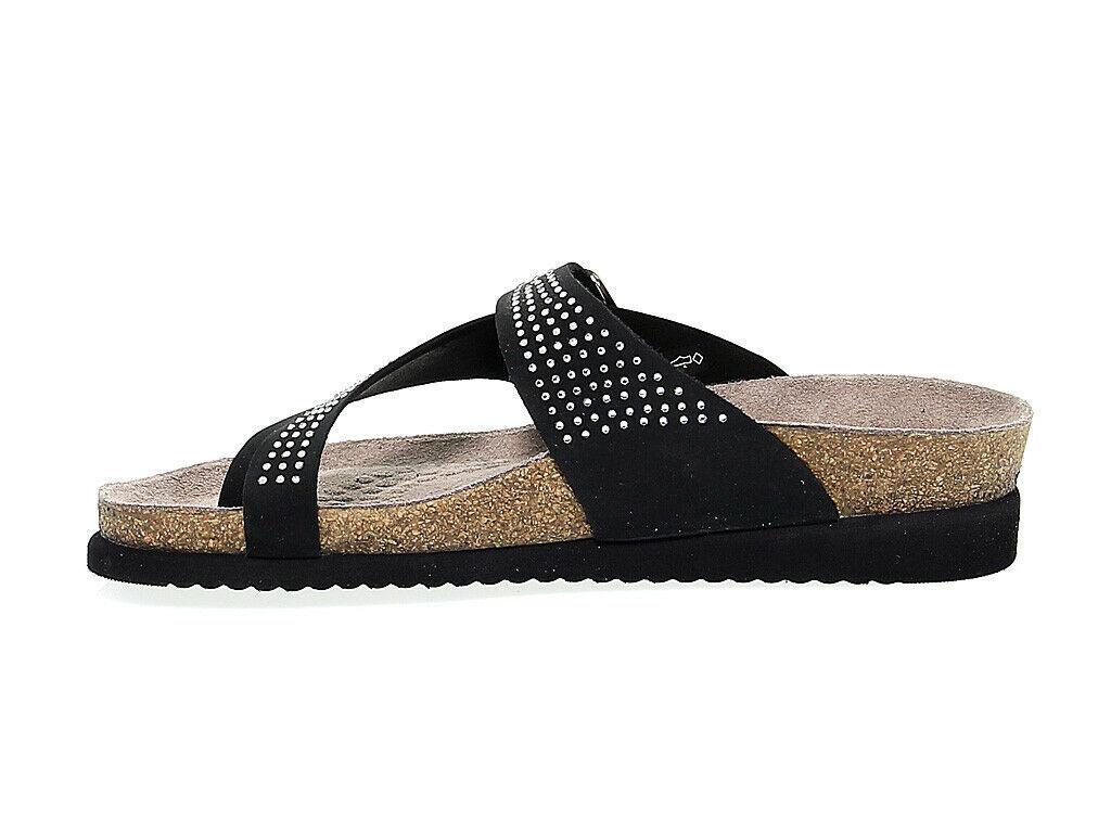 Sandalia plana MEPHISTO HELEN SP B de nabuk negro - Zapatos Mujer