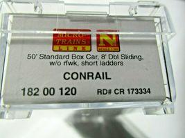 Micro-Trains # 18200120 Conrail 50' Standard Box Car 8' Double Doors N-Scale image 5