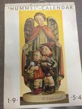 M J Hummel 1954 Calendar Hanging Very Rare. Months Missing Some - $5.93
