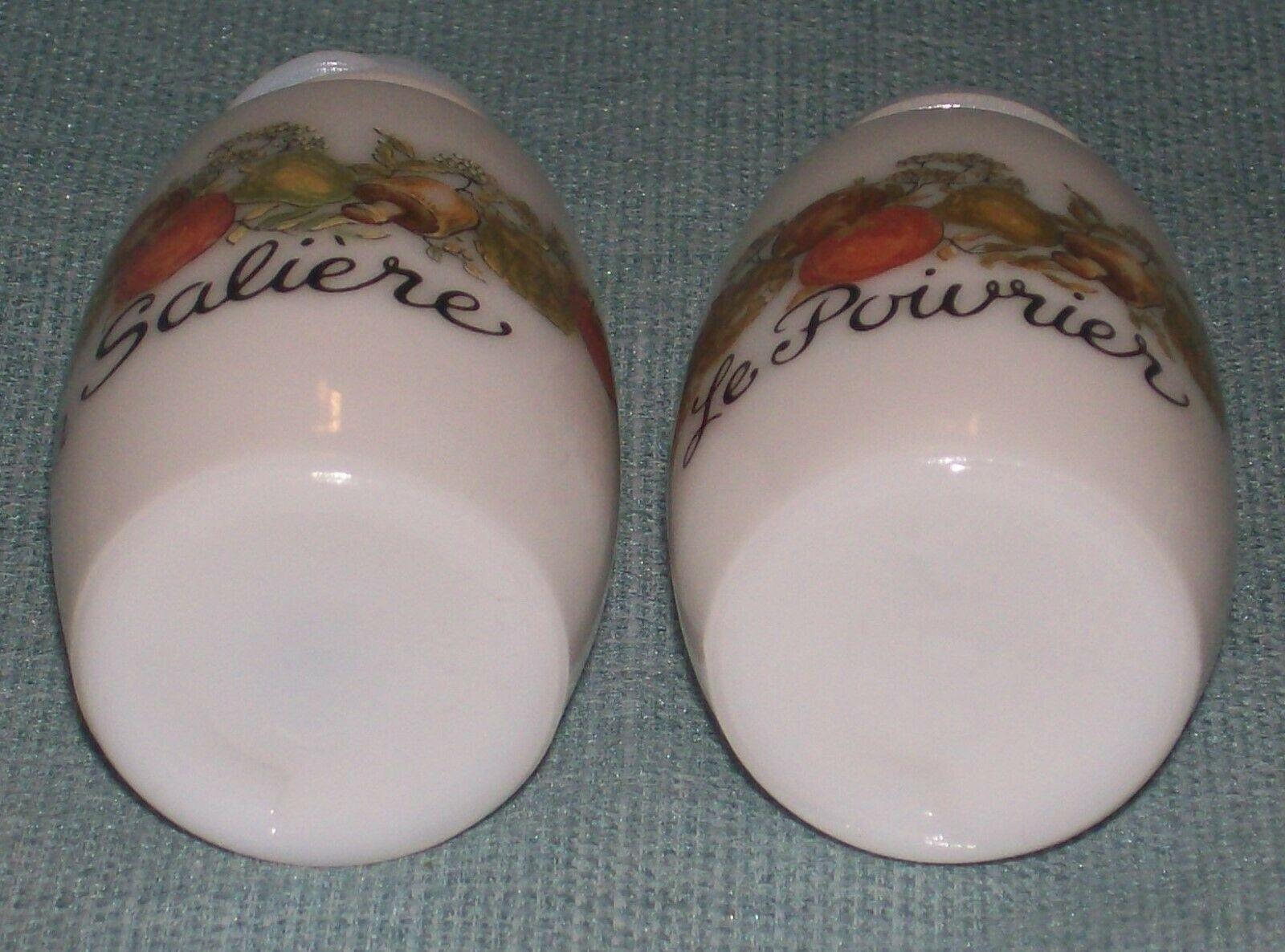 Vtg SPICE OF LIFE Salt and Pepper Shakers- ChromeTops -Corelle Gemco Corning GU  image 6