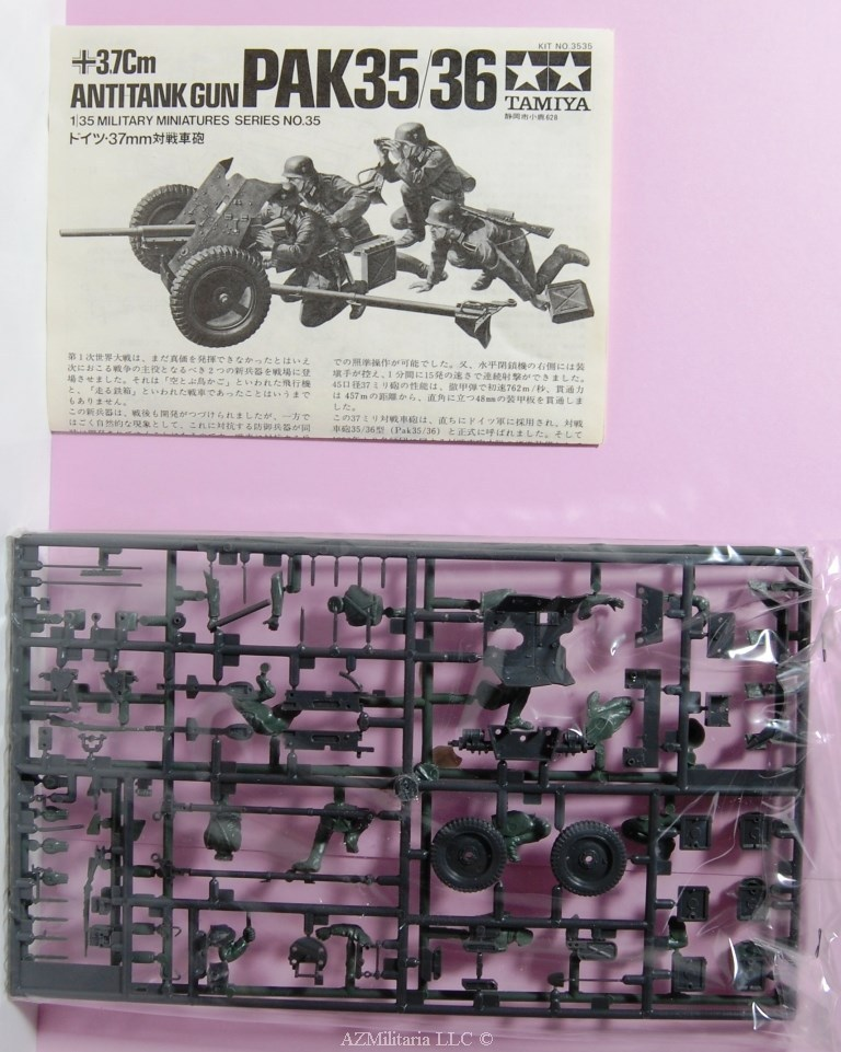 1/35 3.7Cm Antitank Gun (PAK35/36) Kit No 3535 Series No. 35