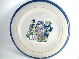 "Vintage Louisville Stoneware Dinner Plate Christmas Carolers 9"" - $13.86"