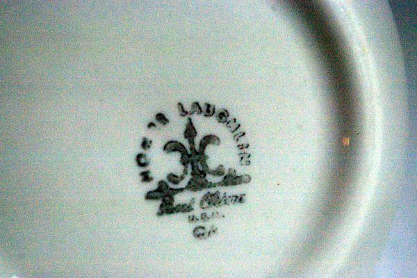 "Homer Laughlin Green Floral Finger Berry Bowl Restaurant Ware 4 3/8"" image 2"