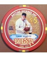 $5 Casino Chip. Fiesta, N. Las Vegas, NV. Tommy Henrich, LTD 1000. W46. - $6.50
