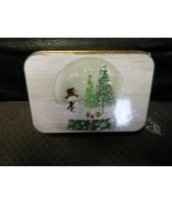 """Christmas Gift Card Holder Tin : Snowman By Trees  4"""" X 2 3/4"""" by Lindy ... - $5.89"""
