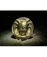 Baphomet Astral Light Initiation Knowledge Antique Gold Button izida hau... - $599.00