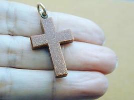 Vintage Goldstone Cross Pendant ESTATE - $19.99