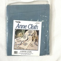 Anne Cloth Blue 18 Count Counted Cross Stitch Afghan Blanket Fabric 45 x... - $45.53