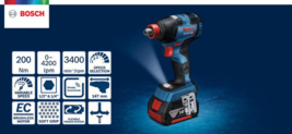 Bosch GDX 18V-200C 2-in-1 EC Brushless 147mm 200Nm 3,400rpm L-Boxx 2x6.0Ah FedEx image 4