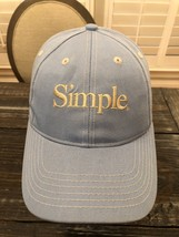 Vintage- SIMPLE Shoe Brand Strapback Hat -Light Blue With White Stitchin... - $29.70