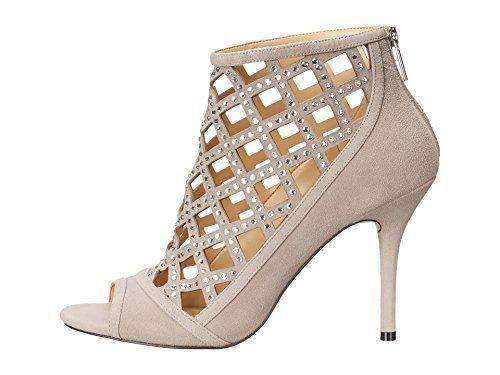 MICHAEL Michael Kors Women's Yvonne Open Toe Bootie, Grey Size 6.5, 7 image 2