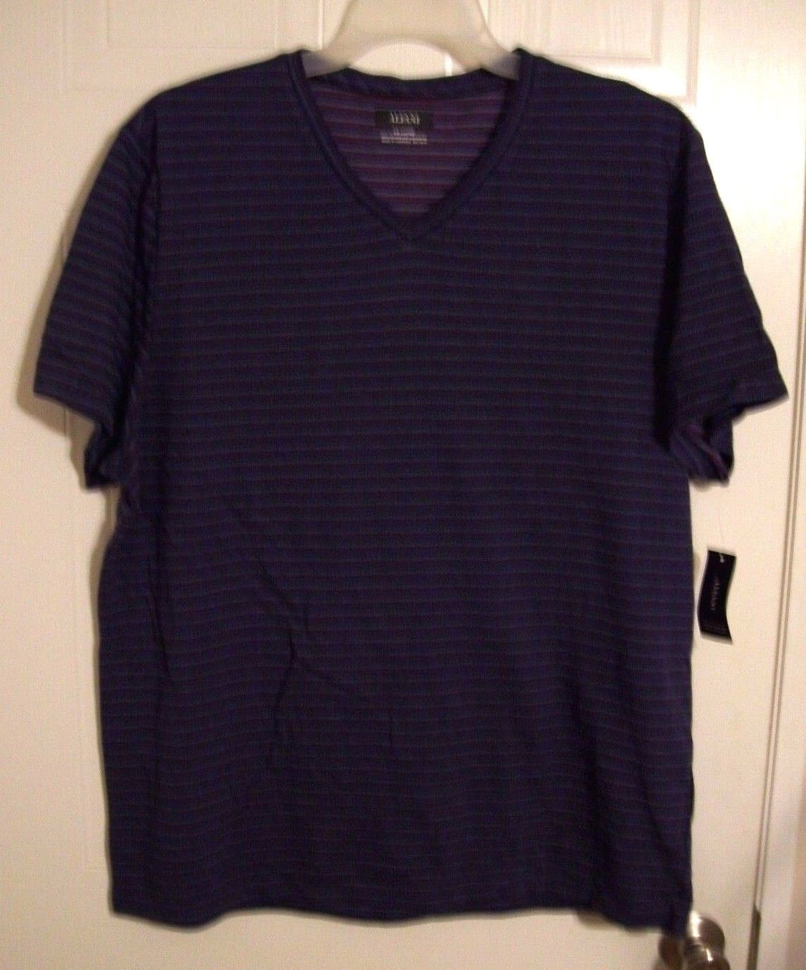 ebfbdec5bfe9 Alfani Men's Short Sleeve V-Neck Casual Shirt / Top - Ocean Night - Size:  XXL