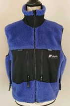 Moose Sportswear Technical Size Small Blue Ultrex Full Zip Vest w/ Pocke... - $35.62