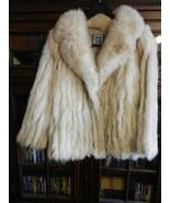 """Vintage 1980s Woman's Natural Blue Fox Jacket from Saga Select 27"""" Long ... - $1,485.00"""